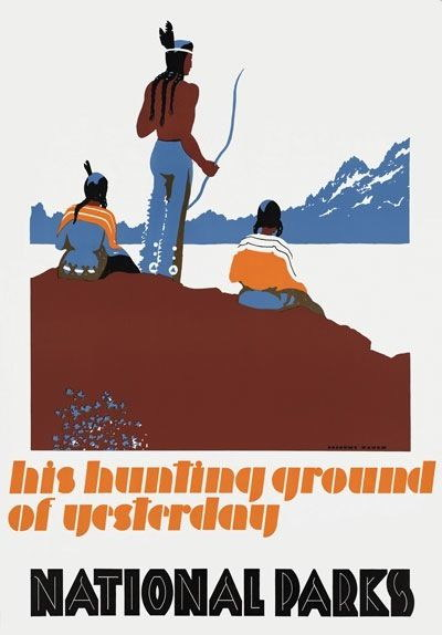 84360 Vintage Hunting Grounds National Parks America Decor WALL PRINT POSTER CA