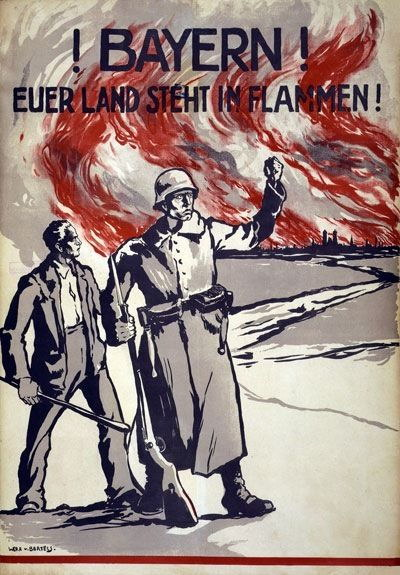 84528 Vintage German Bavarian Propaganda Decor WALL PRINT POSTER CA