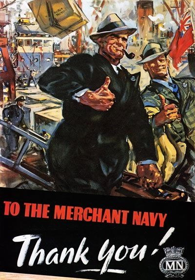 84538 Vintage Merchant Navy Thank You British Decor WALL PRINT POSTER CA