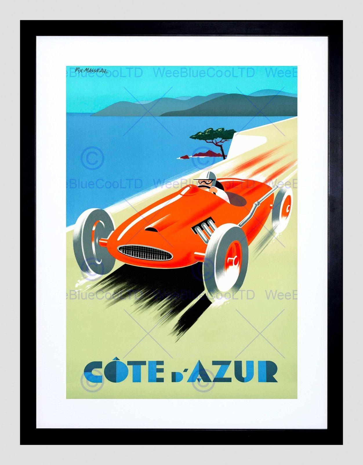 85869 COTE D'AZUR FAST CAR SPEED CONGrünIBLE SEA Decor WALL PRINT POSTER CA