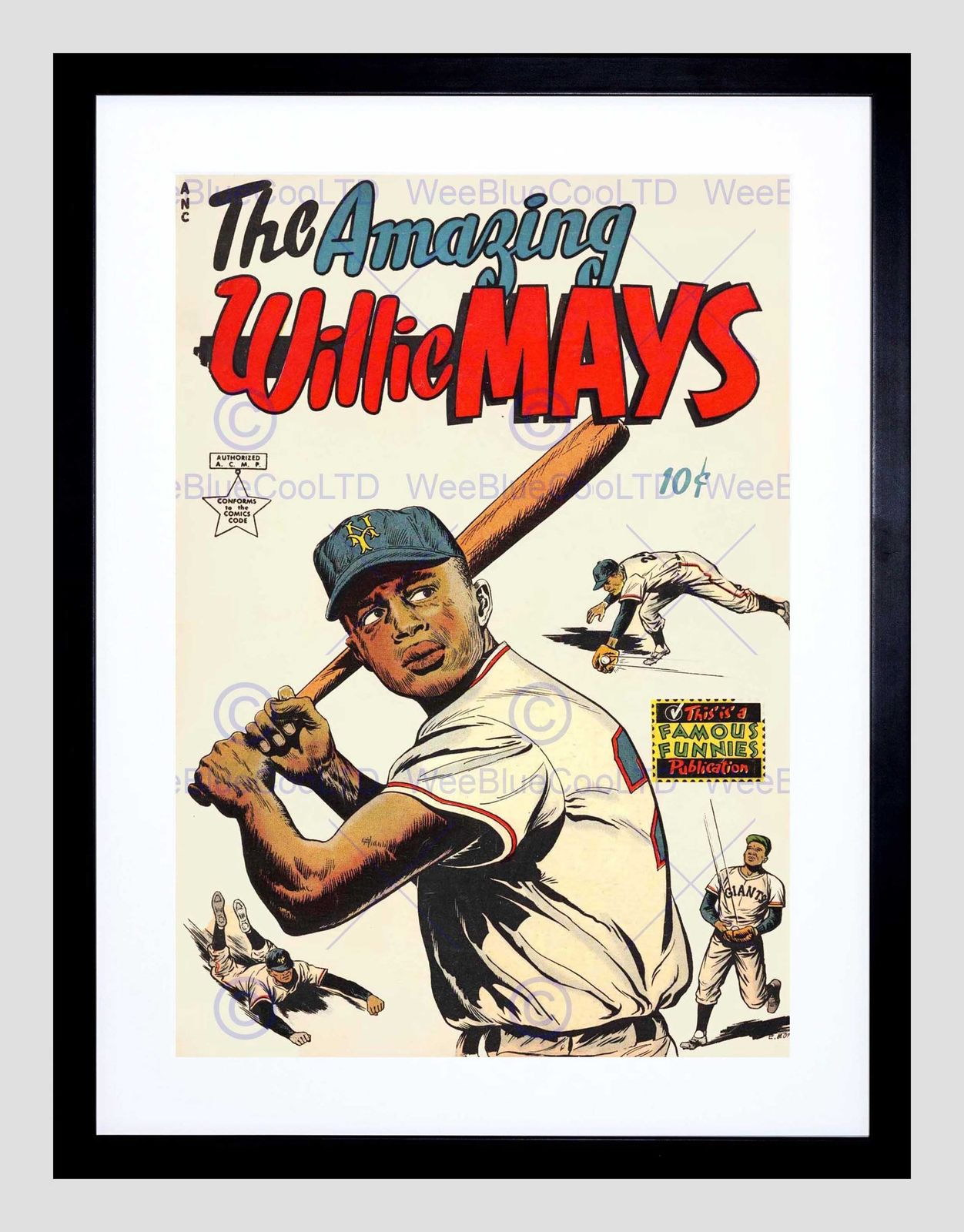 86028 EASTERN COMIC BOOK COVER AMAZING WILLIE MAYS Decor WALL PRINT POSTER CA