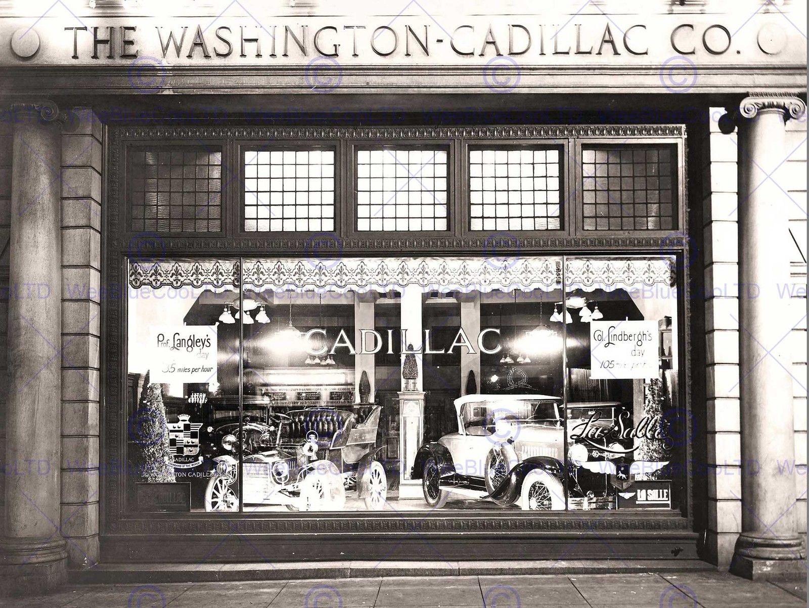 86507 TRAN MEMORABILIA CAR CADILLAC WASHINGTON Decor WALL PRINT POSTER CA