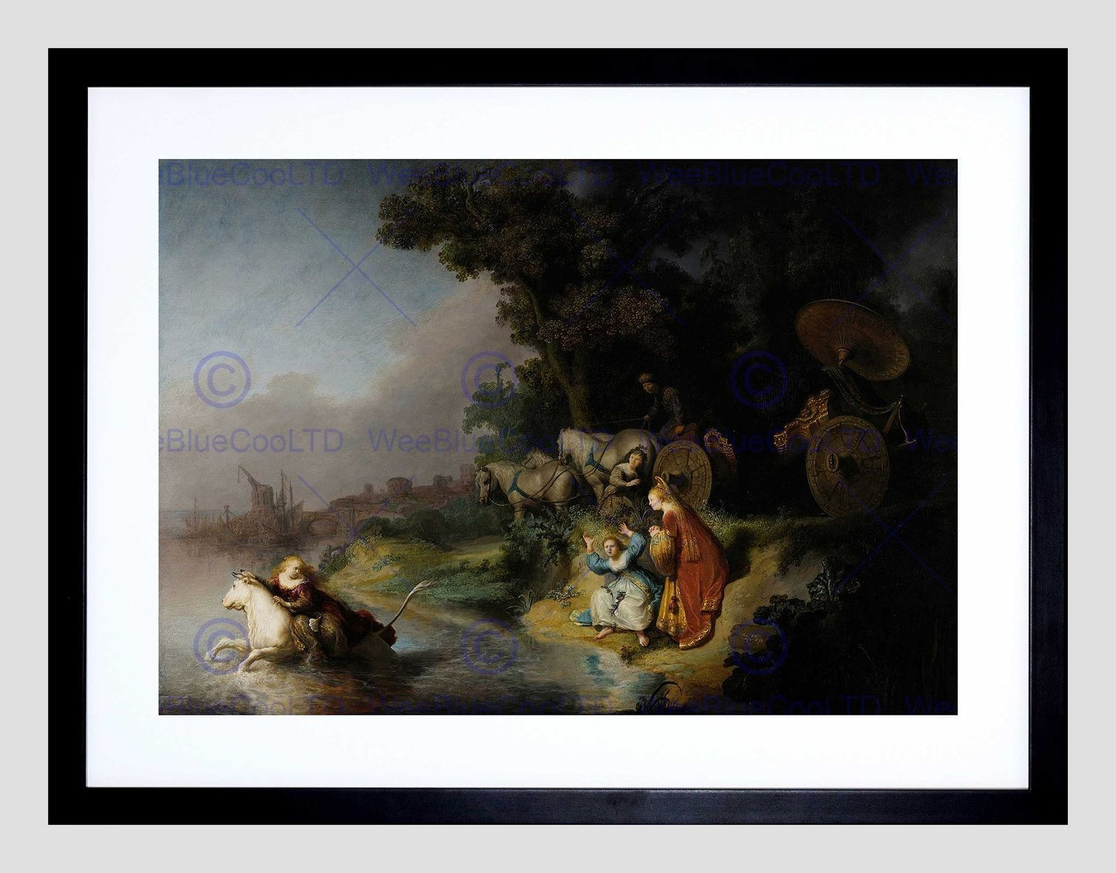 86642 REMBRANDT ABDUCTION OF EUROPA MOUNT Decor WALL PRINT POSTER CA