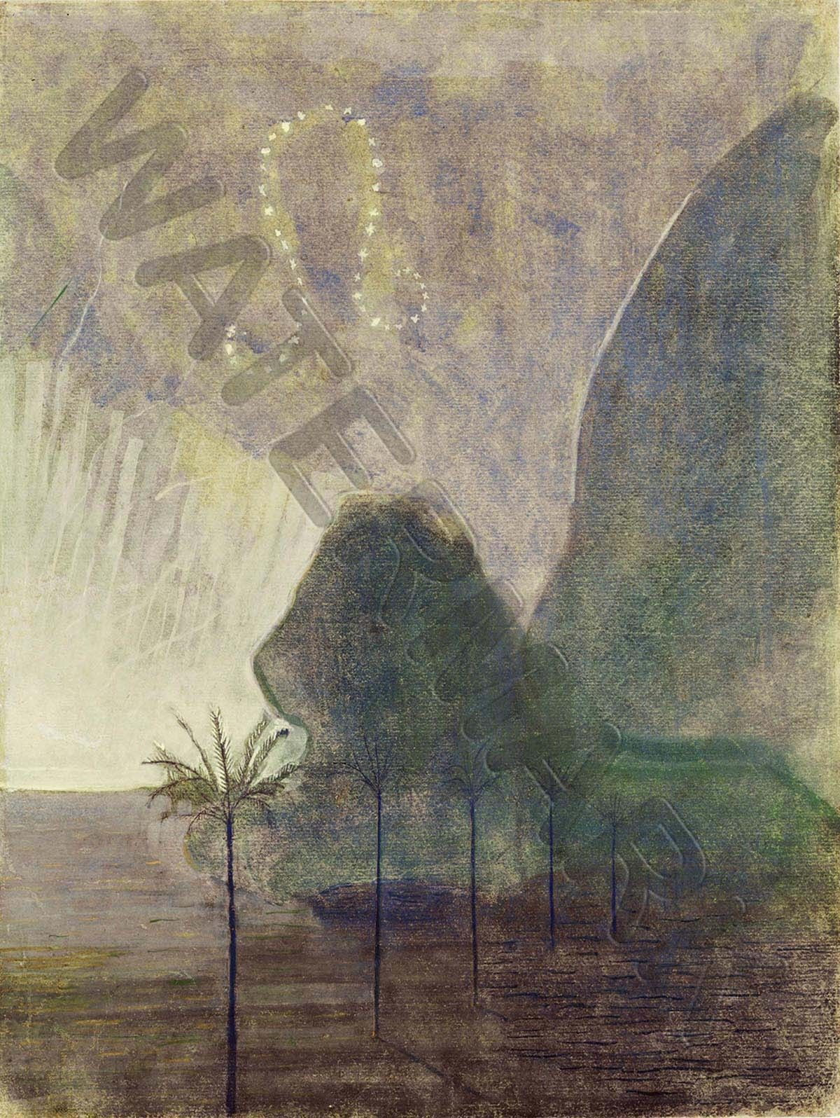 87598 Ciurlionis Sun Passing Leo Decor WALL PRINT POSTER CA