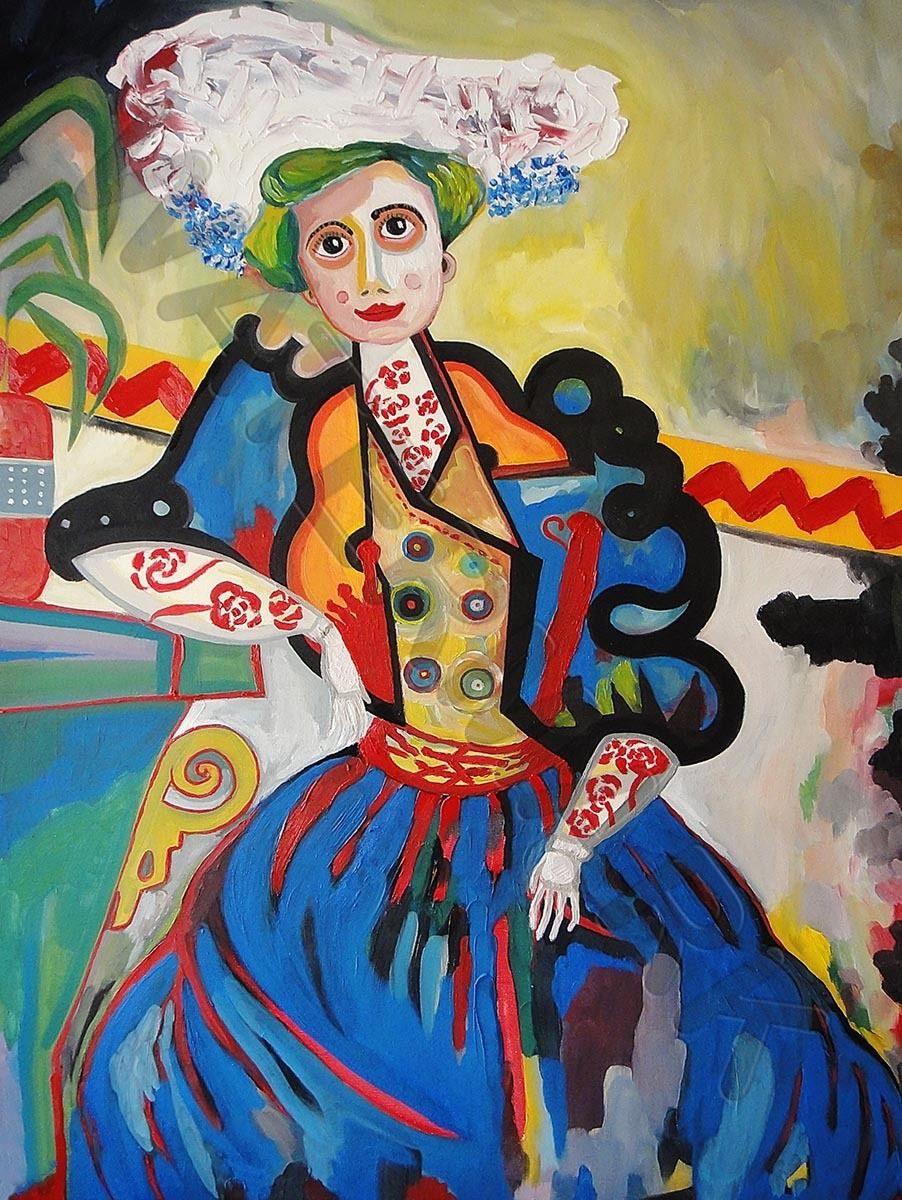 88147 DE SOUZA CARDOSO WOMAN Decor WALL PRINT POSTER CA