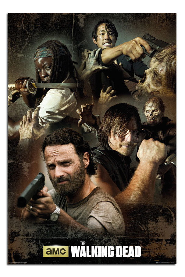 88367 The Walking Dead Collage Decor WALL PRINT POSTER AU