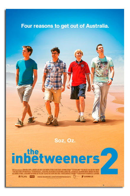 88684 The Inbetweeners 2 Movie Film One Sheet Decor WALL PRINT POSTER CA