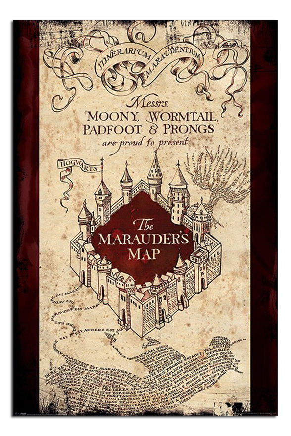 88702-Harry-Potter-The-Marauders-Map-Decor-WALL-PRINT-POSTER-AU
