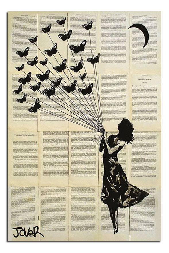 88721 Loui Jover Butterflying Art Decor WALL PRINT POSTER CA