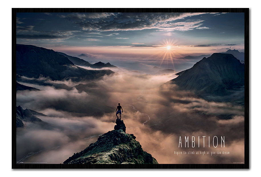 88939 Ambition Motivational Quote Decor WALL PRINT POSTER CA