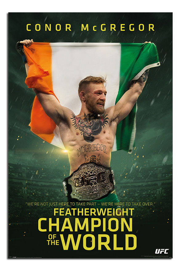 89327 Conor McGregor Featherweight Champion Decor WALL PRINT POSTER CA