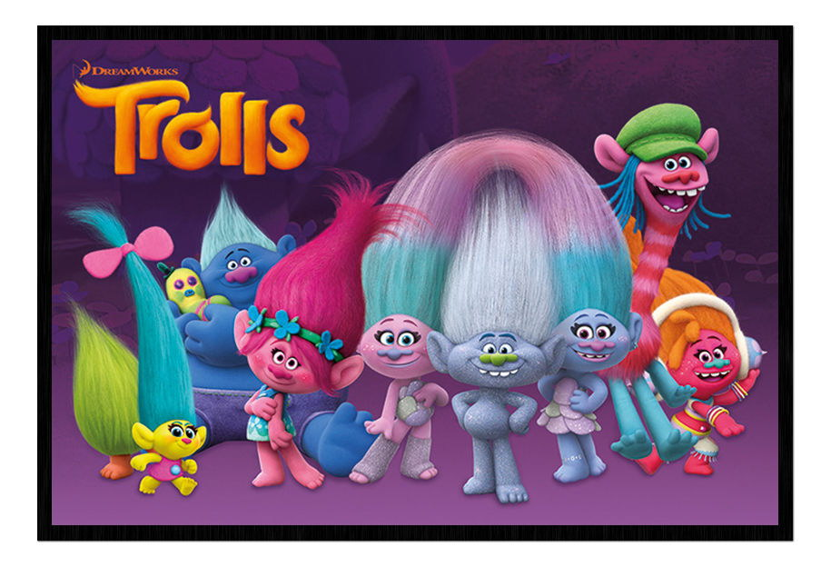 89510 Trolls Characters Dreamworks Magnetic Decor WALL PRINT POSTER CA