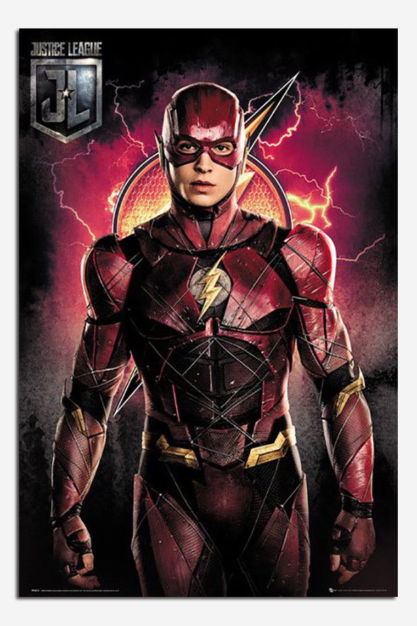 90092 Justice League Flash Solo Decor WALL PRINT POSTER CA