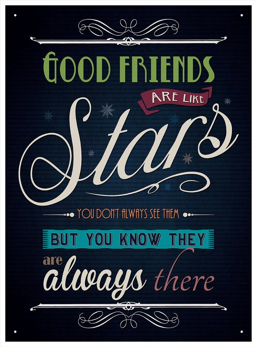 90219 Good Friends Are Like Stars Wall Art Sign Decor WALL PRINT POSTER AU
