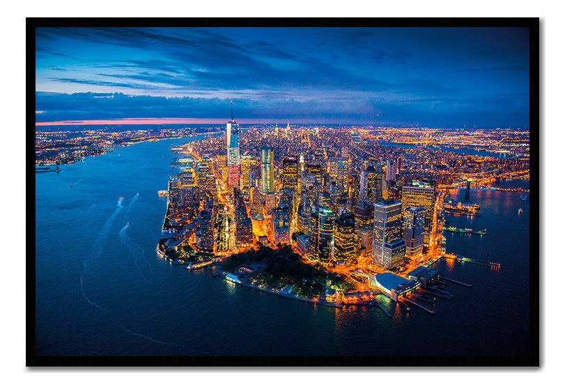 90288 Manhattan York Evening Scene Jason Hawkes Decor WALL PRINT POSTER CA
