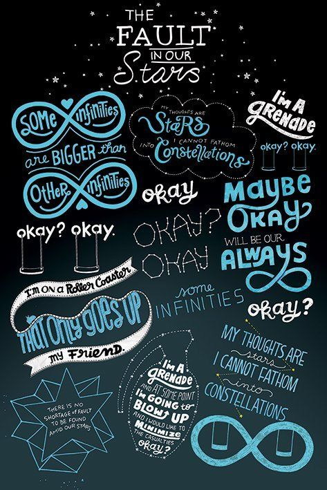 91293 THE FAULT IN OUR STARS INFOGRAPHIC FAMOUS QUOTES WALL PRINT POSTER AU