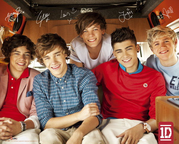 91872 ONE DIRECTION MINI MUSIC THE GUYS & SIGNATURES Decor WALL PRINT POSTER AU