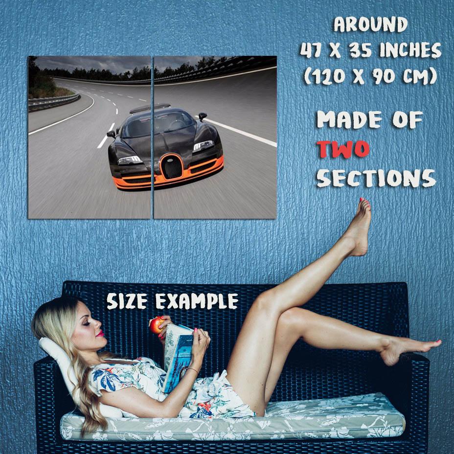 167926 BUGATTI VEYRON Super Race Car Art Wall Wall Print Print Print Poster Affiche 727e2b