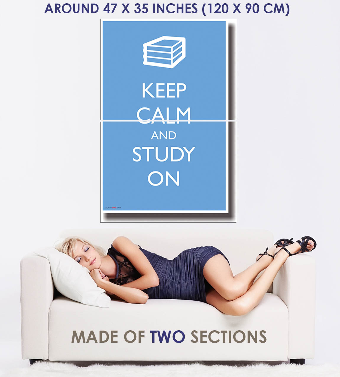 173345-Keep-Calm-and-Study-On-Humor-Decor-WALL-PRINT-POSTER-FR miniature 5