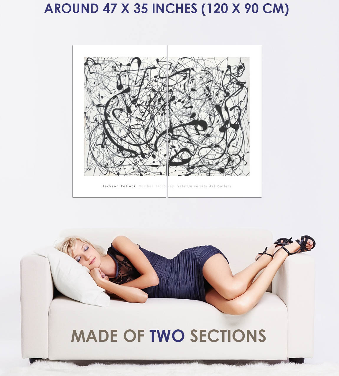 175354-Number-14-Gray-by-Jackson-Pollock-Abstract-Decor-WALL-PRINT-POSTER-UK thumbnail 5
