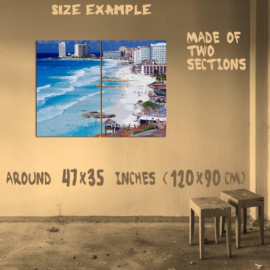 186140-CANCUN-MEXICO-SKYLINE-RIVIERA-MAYA-RESORT-OCEAN-Wall-Print-Poster-AU
