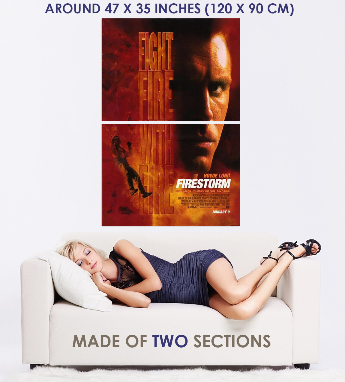 237502-FIRESTORM-1998-Movie-Howie-Long-Suzy-Amis-WALL-PRINT-POSTER-US miniature 5