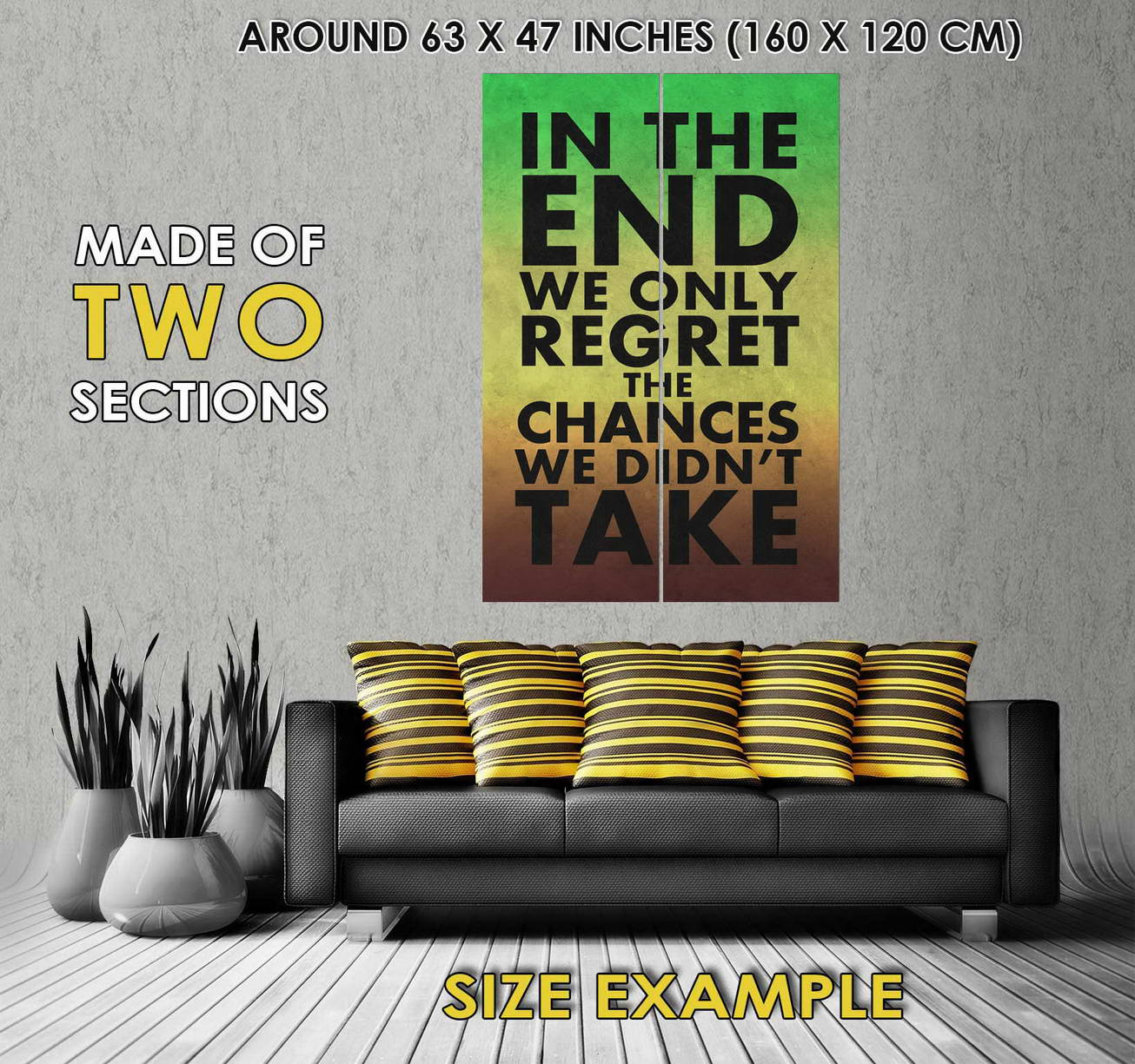 106276 In The End End End We Only Regret The Chances We Didnt Decor WALL PRINT POSTER FR 6566f5