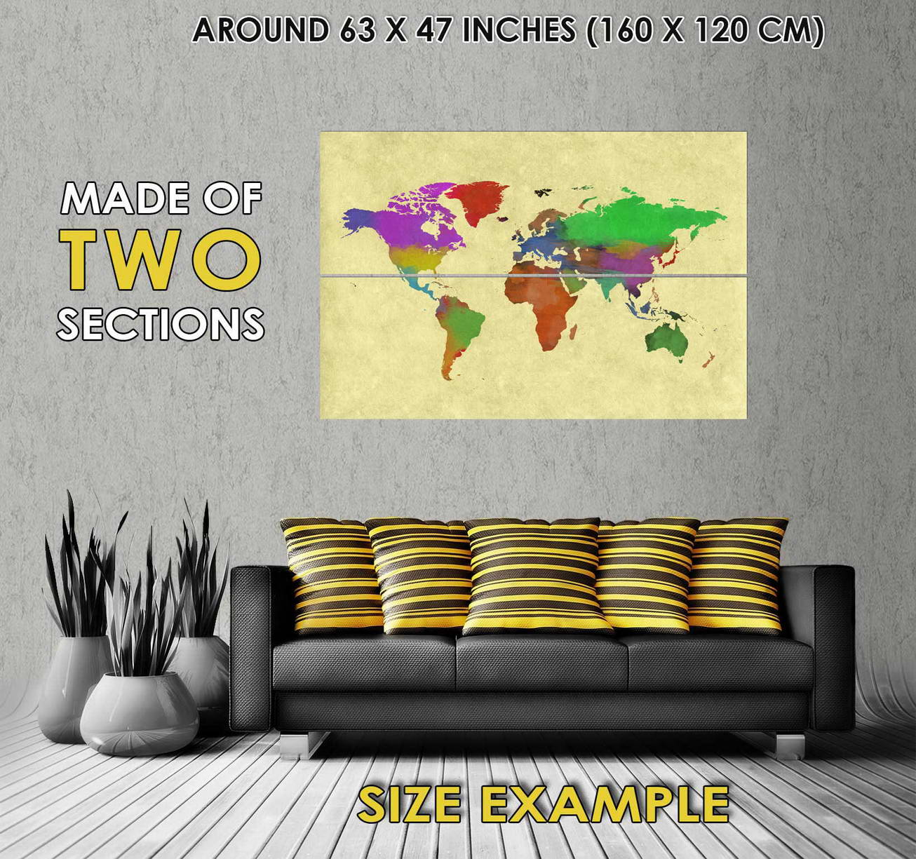 109432 World Geography Cartography World Continents Decor Decor Decor WALL PRINT POSTER FR 6f7222