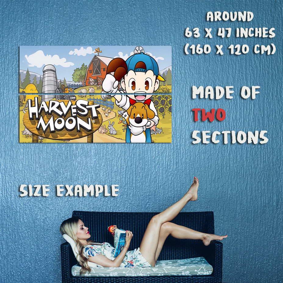 155183 Harvest Moon Moon Moon Wall Print Poster CA 63c1cb