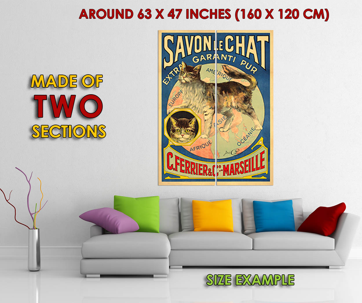 170664-Soap-Savon-Chat-Cat-Africa-America-Europe-World-WALL-PRINT-POSTER-FR miniature 6