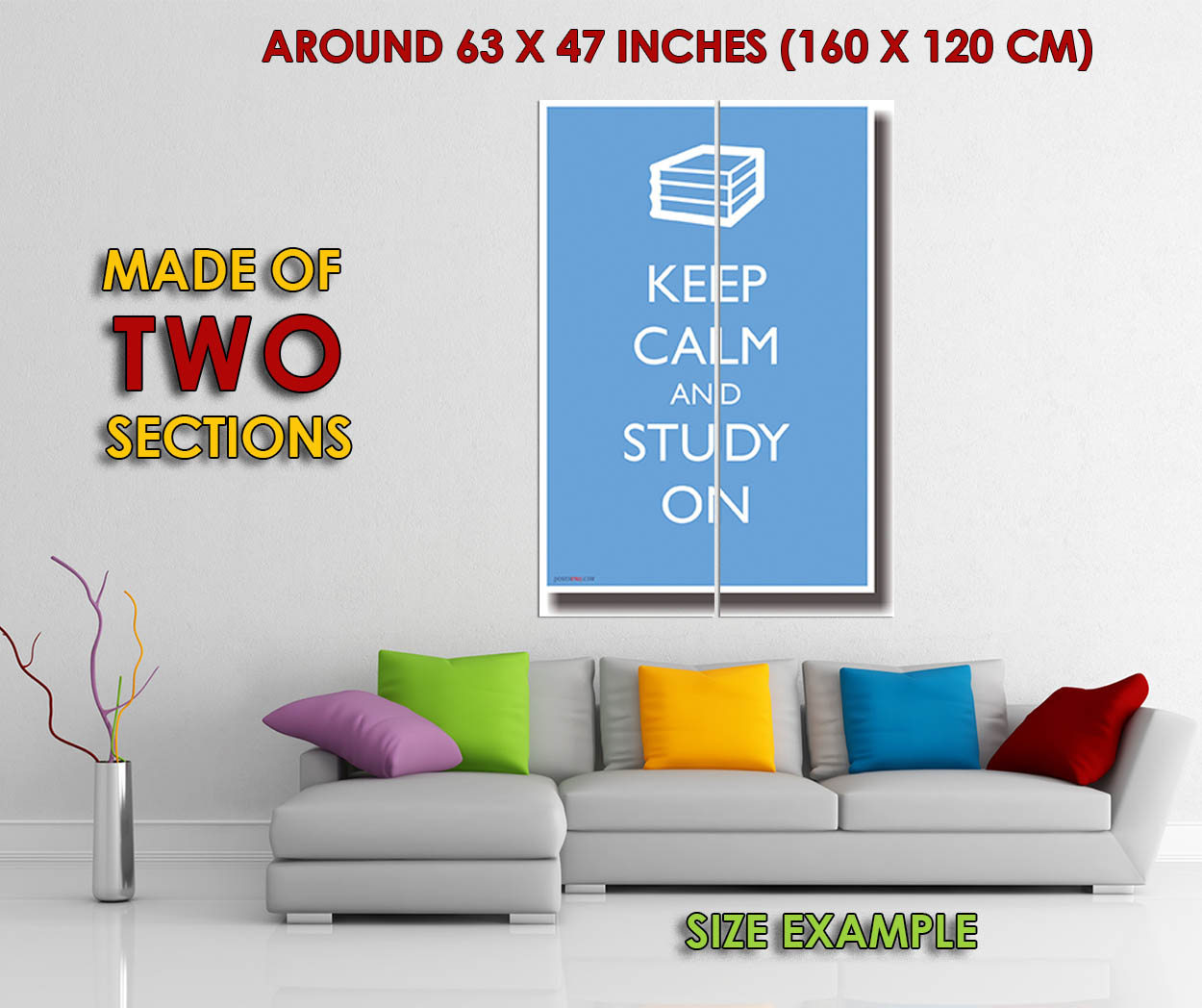 173345-Keep-Calm-and-Study-On-Humor-Decor-WALL-PRINT-POSTER-FR miniature 6