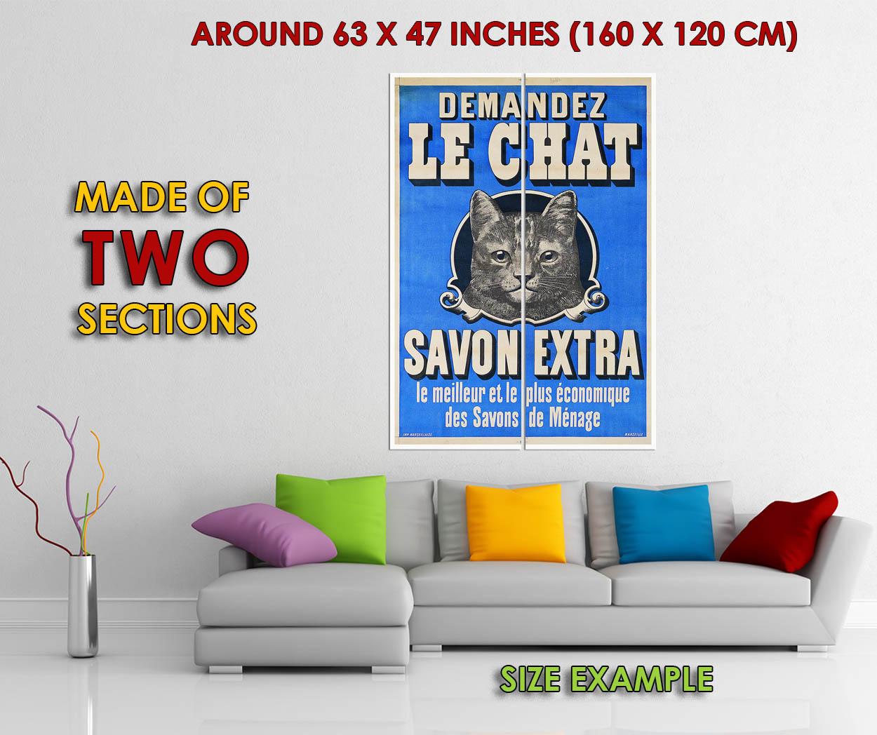 176879-vintage-Cat-DEMANDEZ-LE-CHAT-savon-Publicite-Mural-imprime-Poster-USA miniature 6
