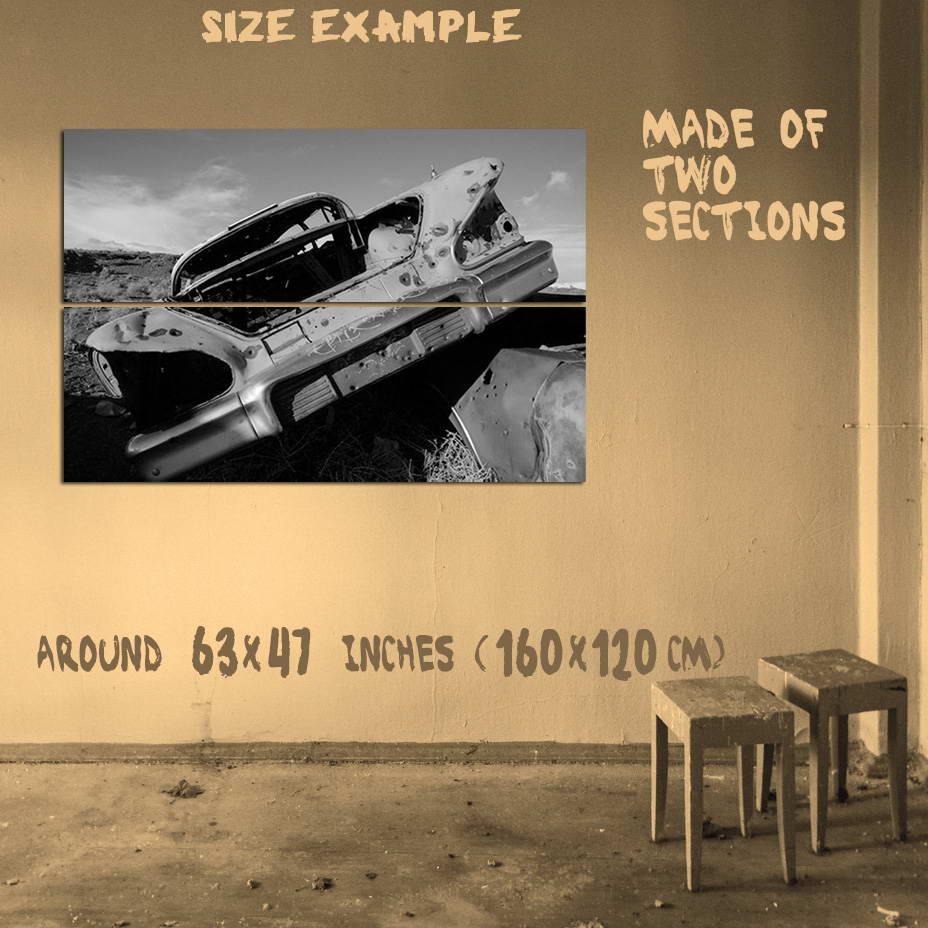 189160-1958-Chevrolet-Impala-Desert-Derelict-Print-Poster-Affiche miniatura 6