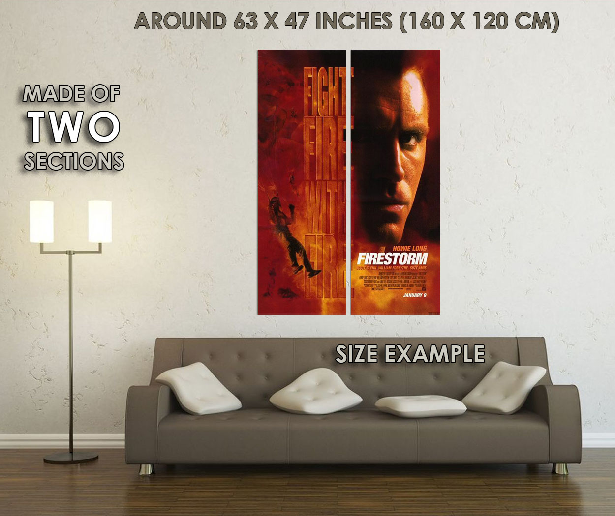 237502-FIRESTORM-1998-Movie-Howie-Long-Suzy-Amis-WALL-PRINT-POSTER-US miniature 6