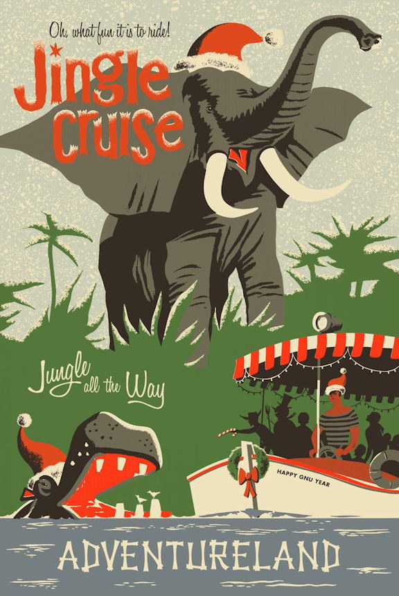 100124 Jingle Cruise Collector Decor WALL PRINT POSTER AU