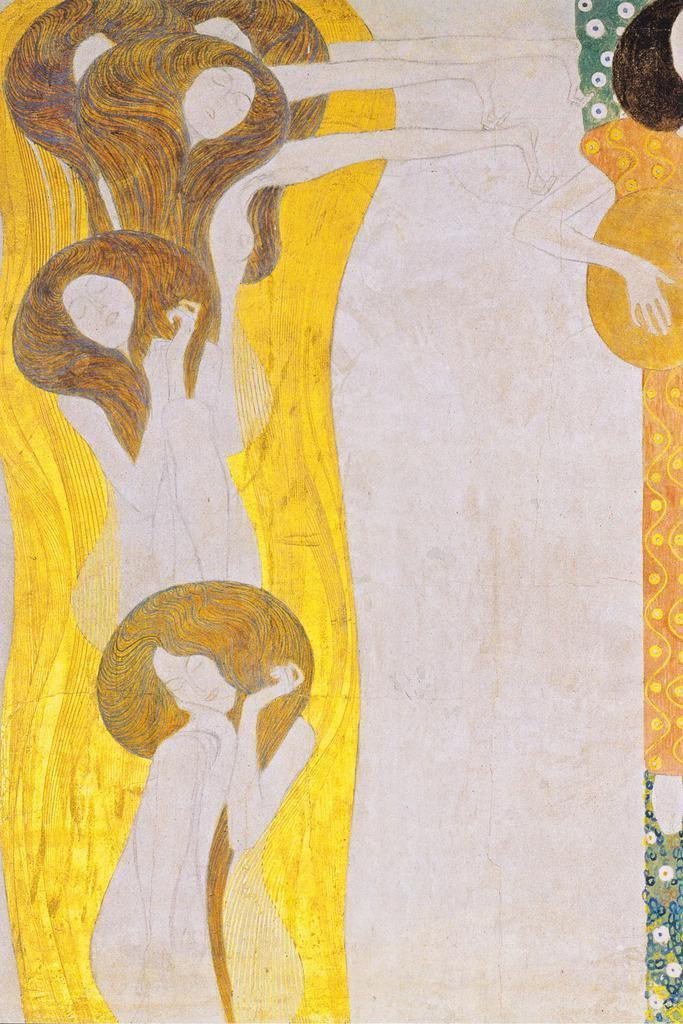 107708 Gustav Klimt Beethoven Frieze The Arts Decor WALL PRINT POSTER AU