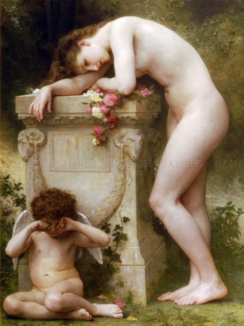110106-WILLIAM-ADOLPHE-BOUGUEREAU-ELEGY-OLD-MASTER-Decor-WALL-PRINT-POSTER-CA