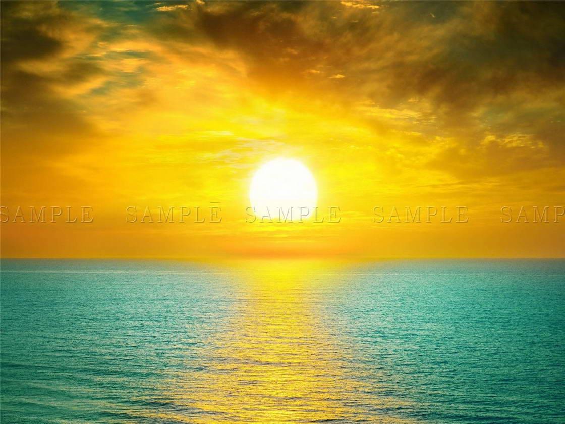 117289 COMPOSITION SUNSET SUNSET SUNSET OCEAN SEA BRIGHT giallo Decor WALL PRINT POSTER FR f0cb1c