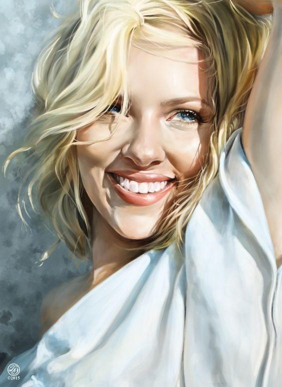 119579 Scarlett Johansson Portrait Decor WALL PRINT POSTER AU
