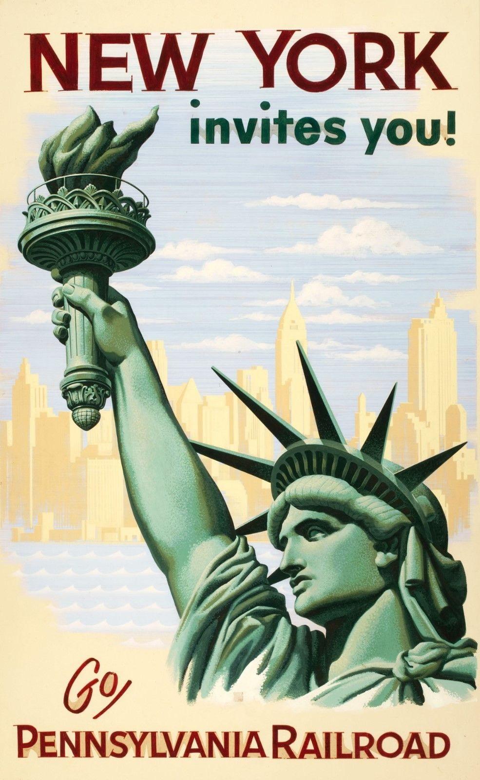 120569 Newyork Vintage Retro Decor WALL PRINT POSTER AU