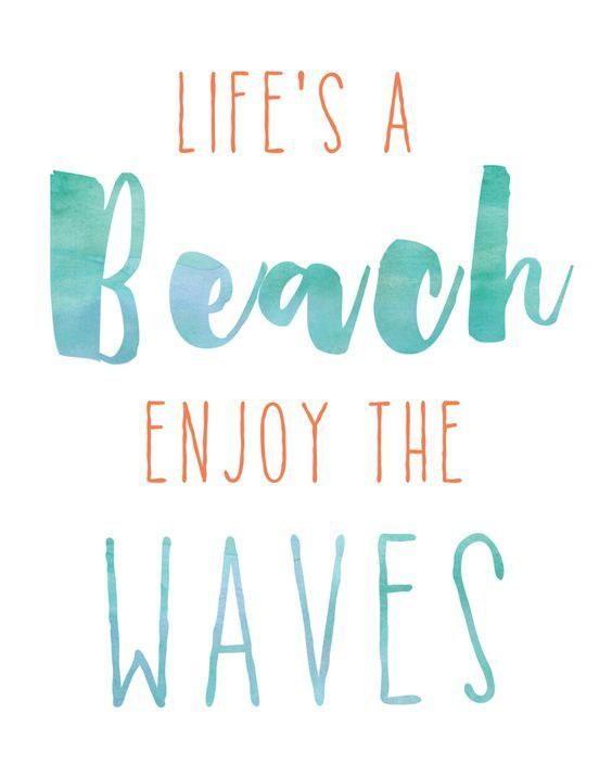 120827 Surf Beach Quotes Ocean Decor WALL PRINT POSTER AU