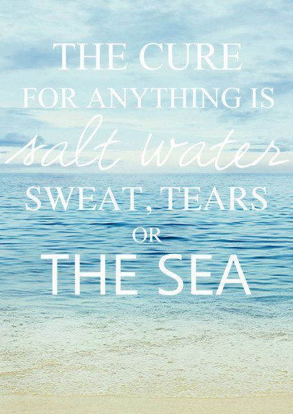 120838 Beach Quotes Ocean collect Decor WALL PRINT POSTER AU