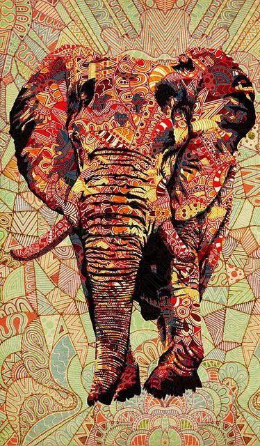 120924 Watercolour Elephant Decor WALL PRINT POSTER AU