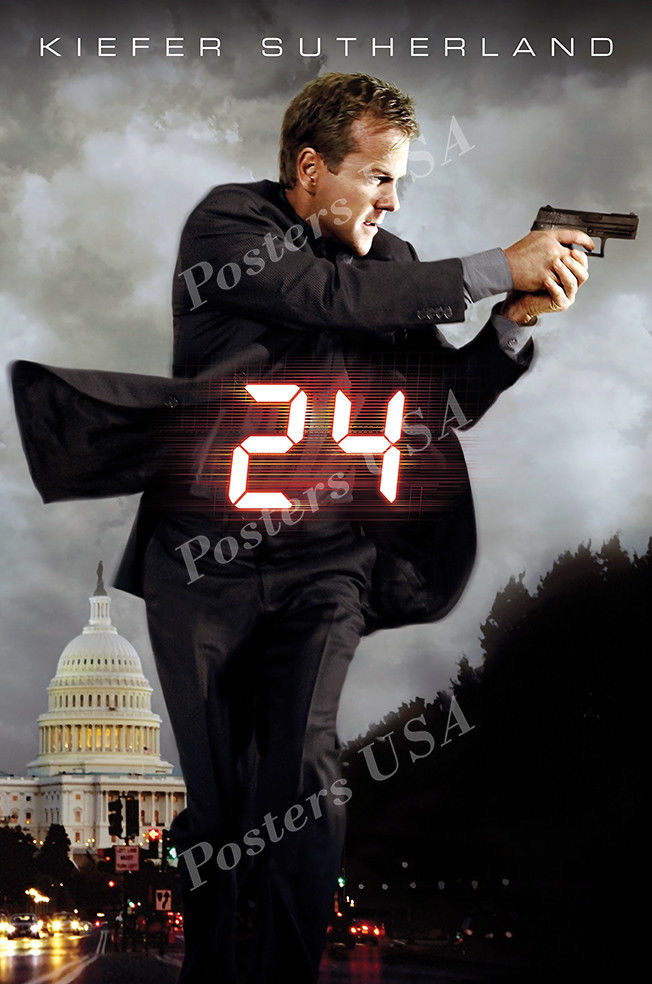 122775 USA 24 Kiefer Sutherland Serie Decor WALL PRINT POSTER AU