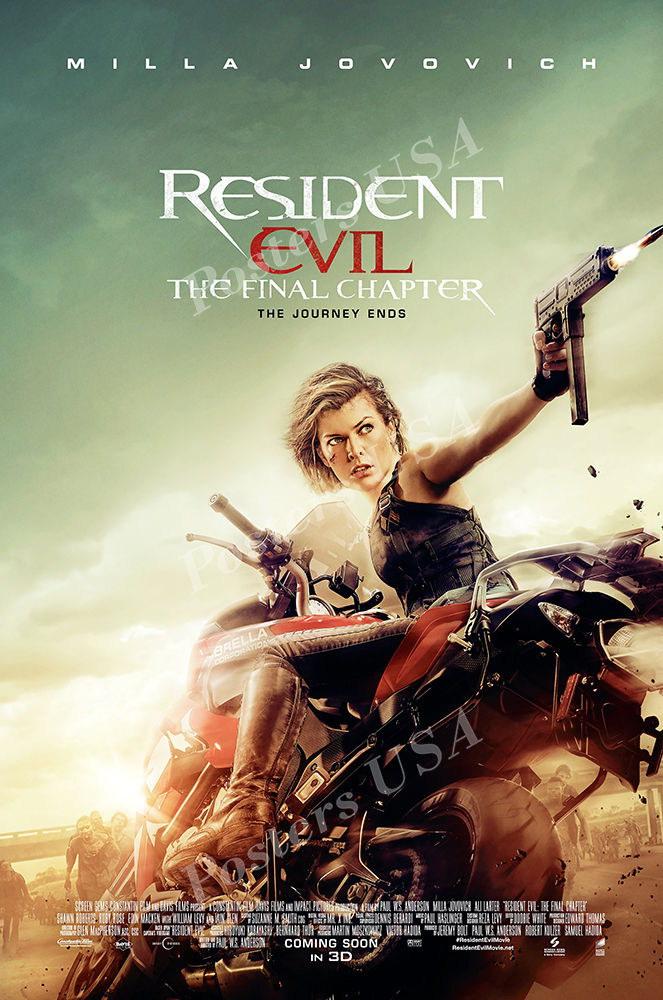 123929 USA Resident Evil Final Chapte Decor WALL PRINT POSTER AU