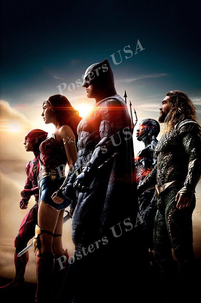 124056 USA DC Justice League Textl Decor WALL PRINT POSTER AU