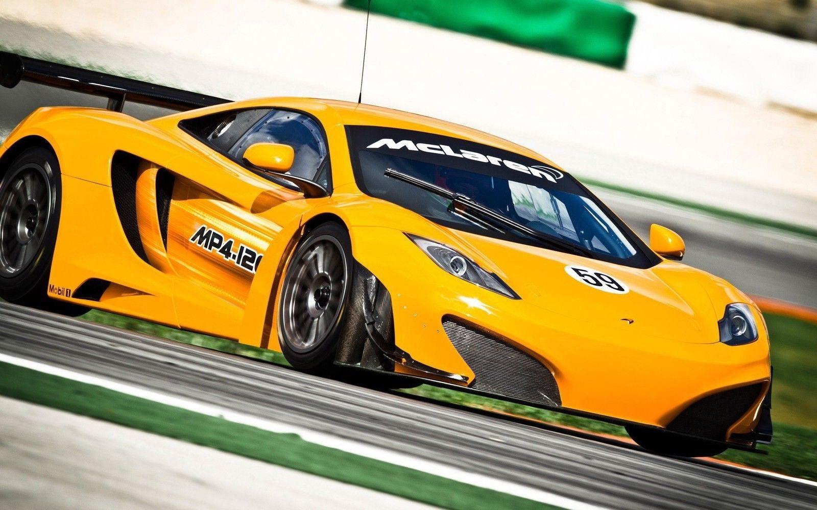 124918 McLaren MP4 12C giallo car Decor WALL PRINT POSTER CA