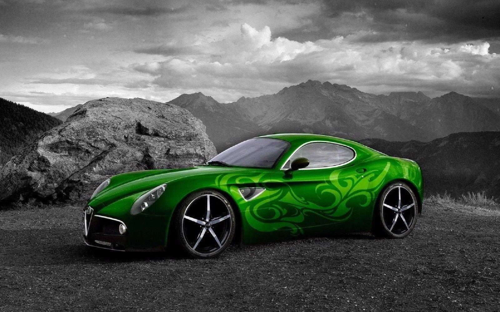 126825 verde Alfa Romeo Decor WALL PRINT POSTER AU