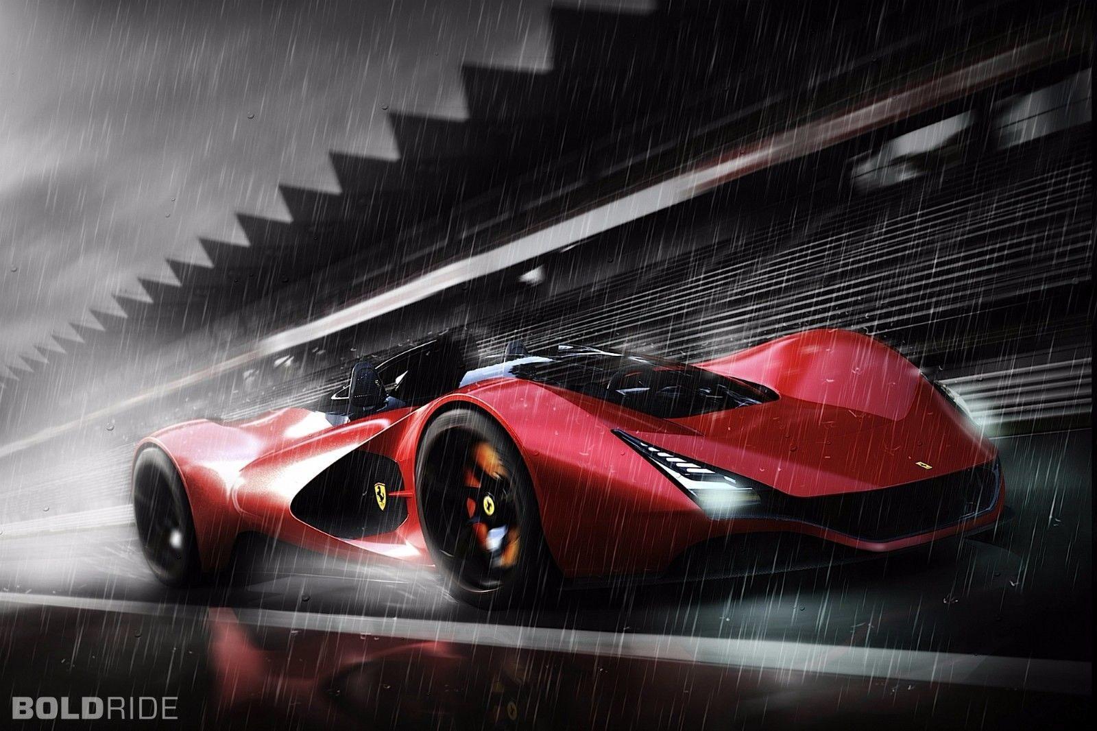 129154 2011 Ferrari Aliante Concept superca Matte Decor WALL PRINT POSTER AU