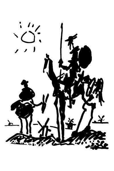 129412 Pablo Picasso Don Quixote Decor WALL PRINT POSTER UK